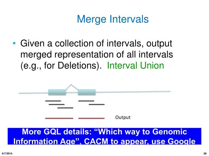 Merge Intervals