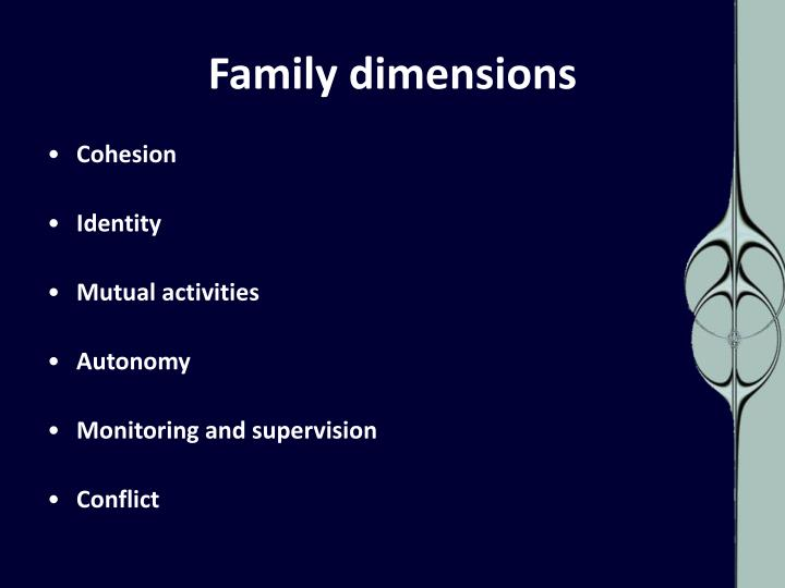 Family dimensions