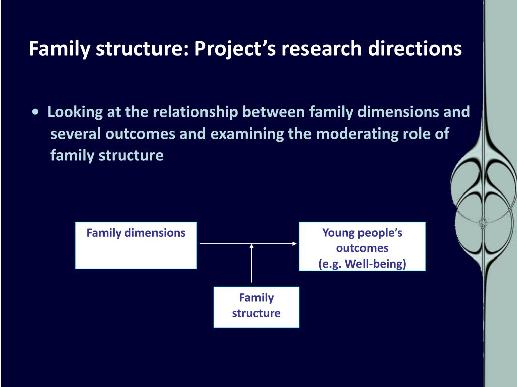 Family structure: Project's research directions