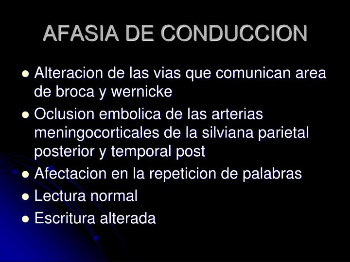 AFASIA DE CONDUCCION