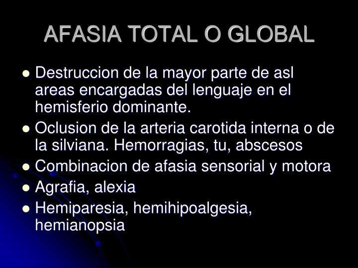 AFASIA TOTAL O GLOBAL