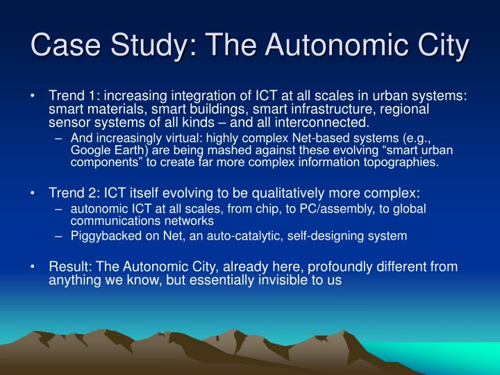 Case Study: The Autonomic City