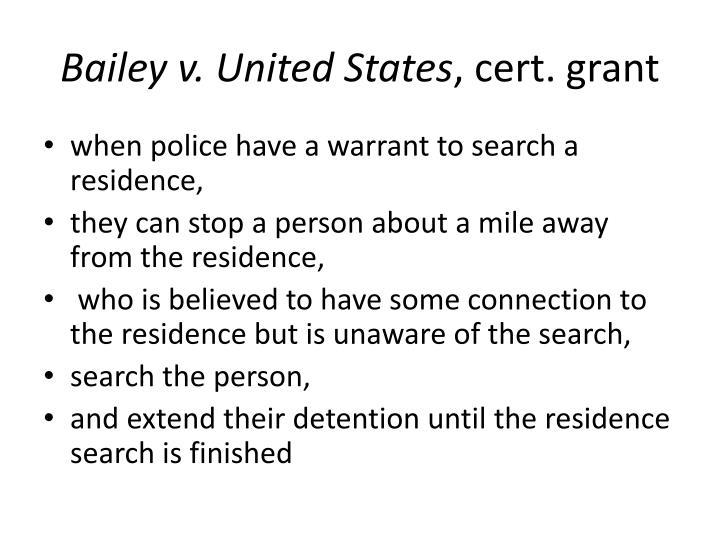 Bailey v. United States