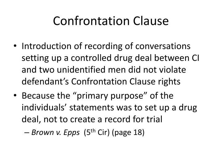 Confrontation Clause