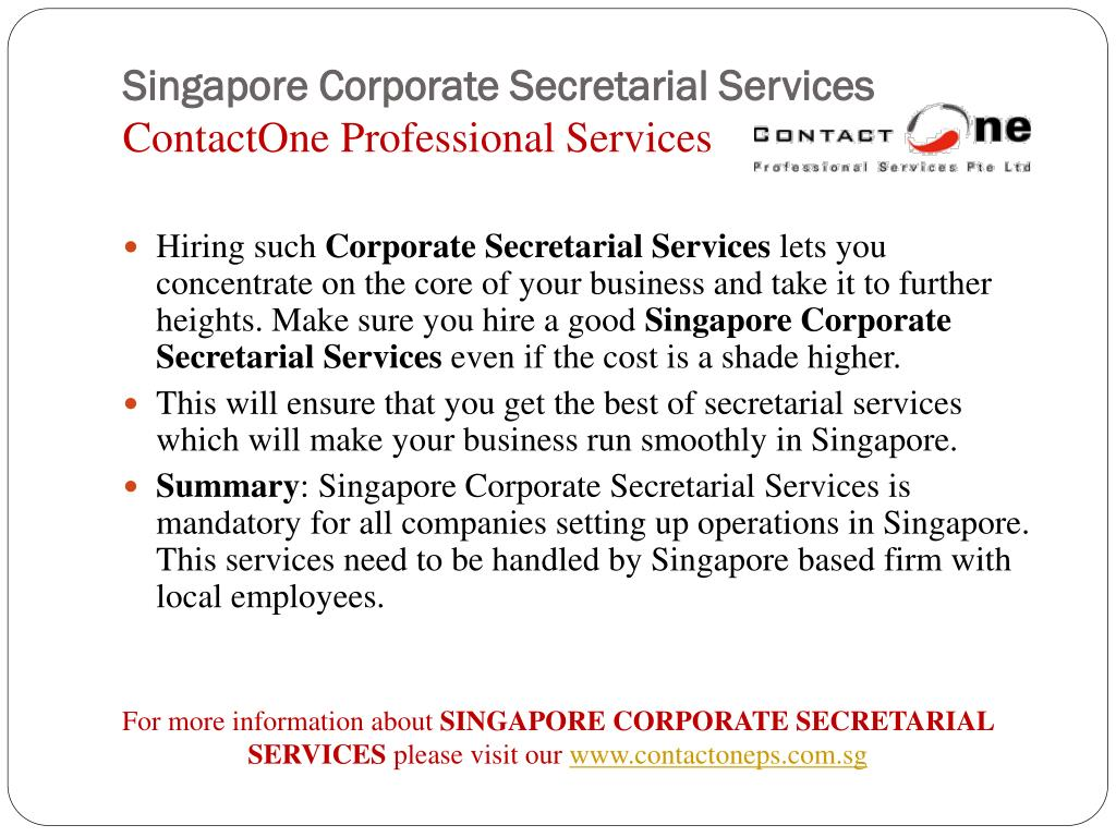 Singapore Corporate Secretarial Services