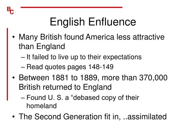 English Enfluence