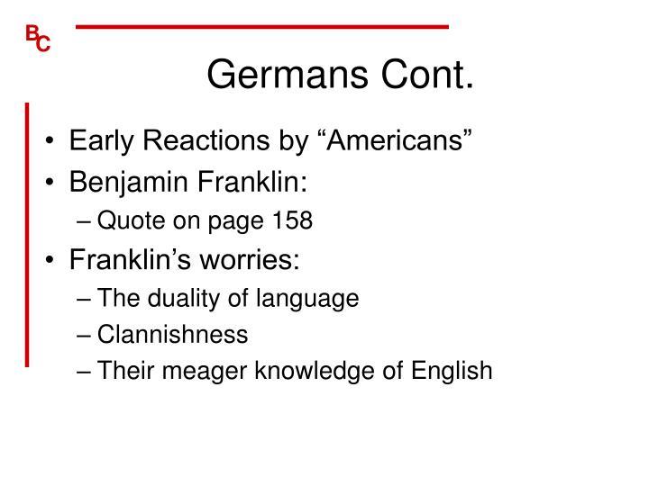 Germans Cont.