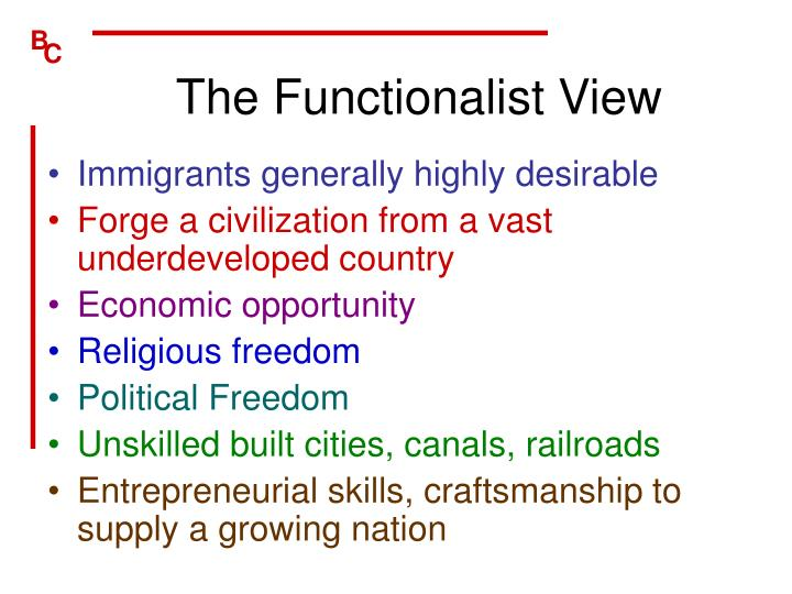The Functionalist View