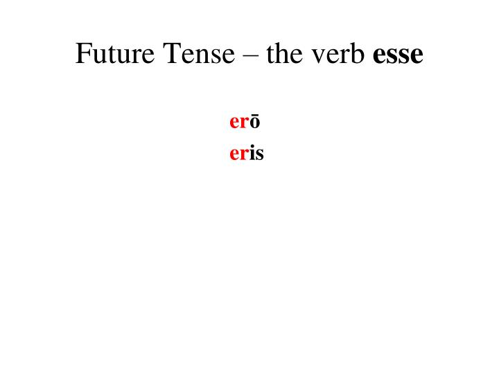 Future Tense – the verb