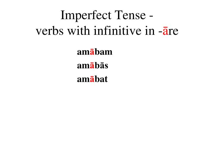 Imperfect Tense -