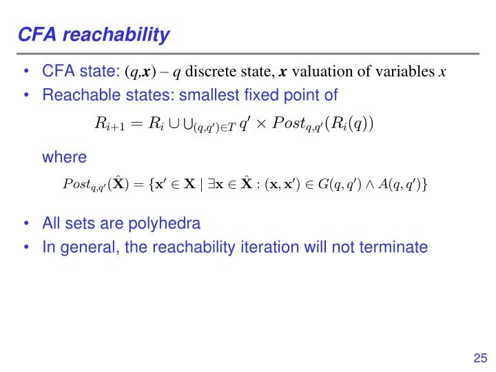 CFA reachability