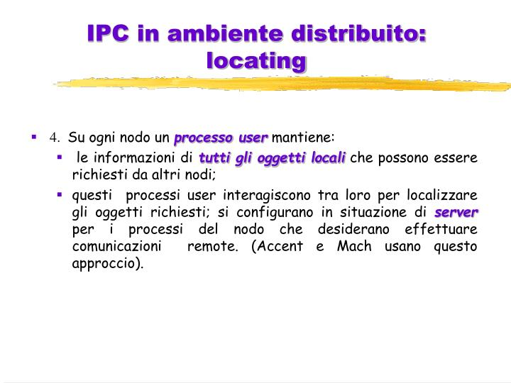 IPC in ambiente distribuito: