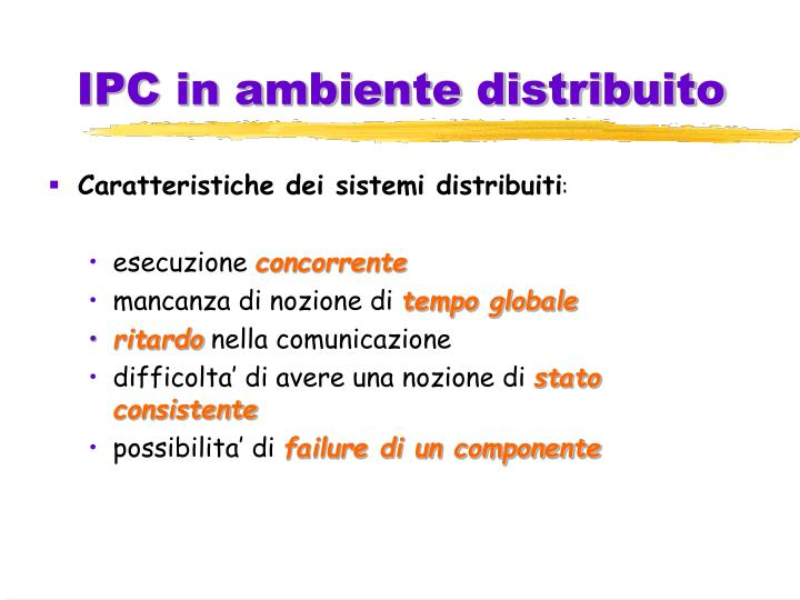 Ipc in ambiente distribuito