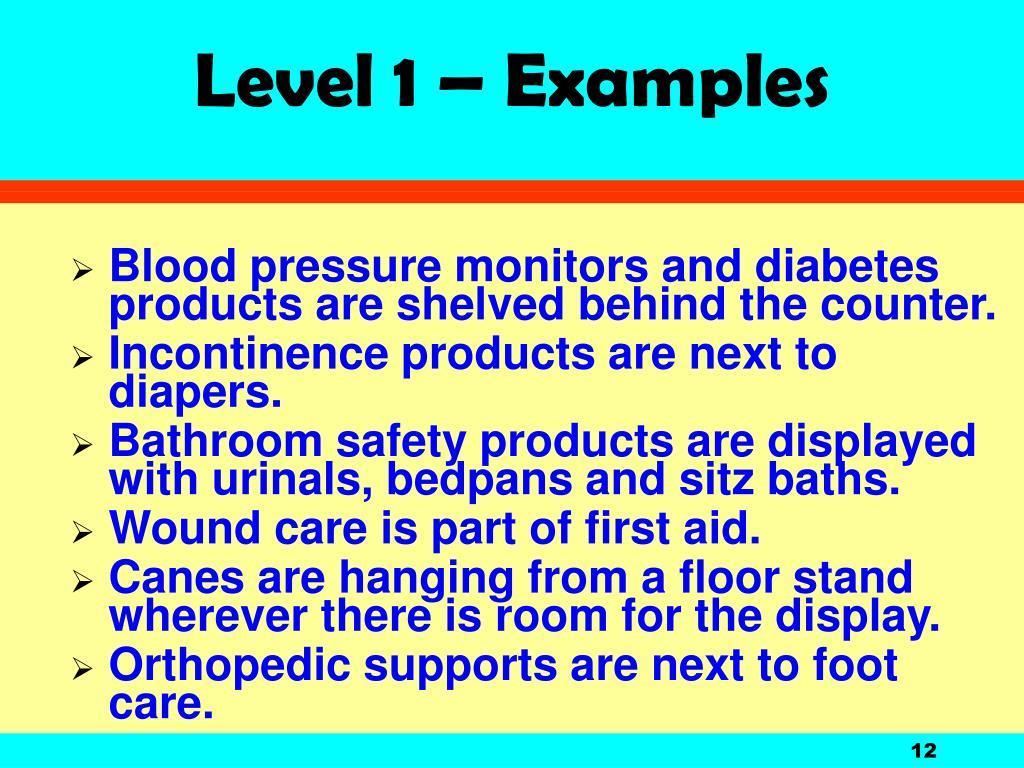 Level 1 – Examples