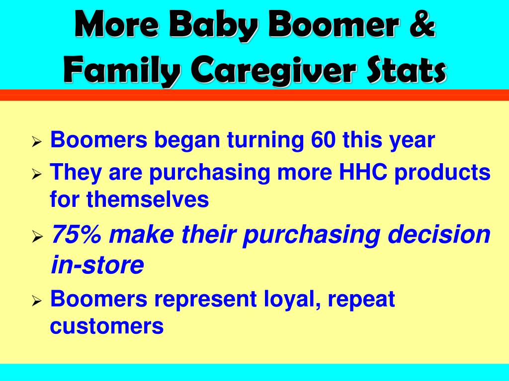 More Baby Boomer & Family Caregiver Stats