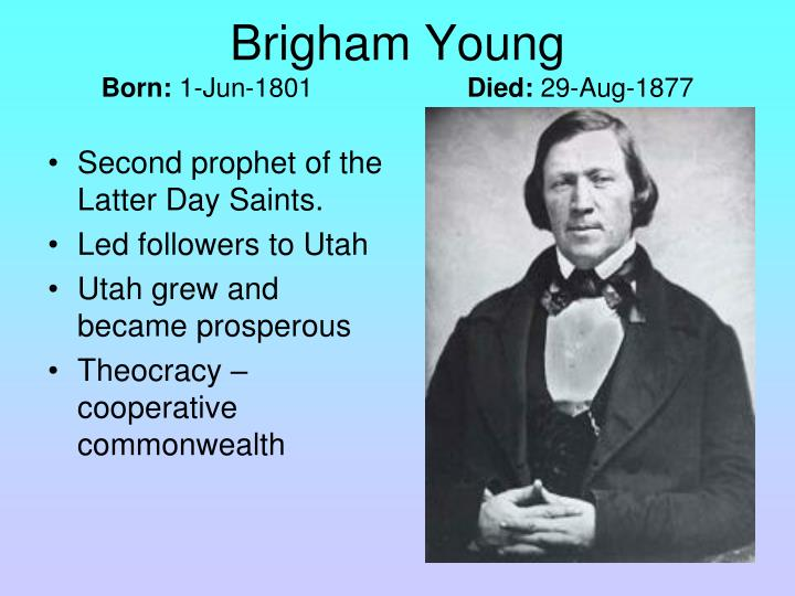 Second prophet of the Latter Day Saints.