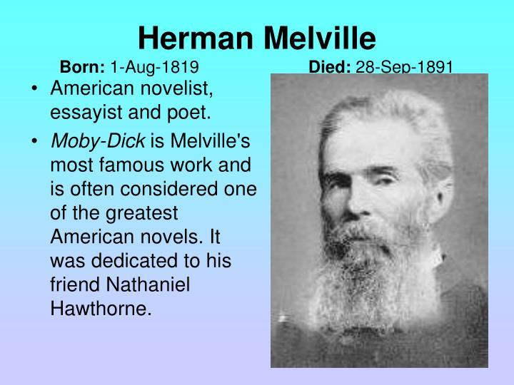American novelist, essayist and poet.
