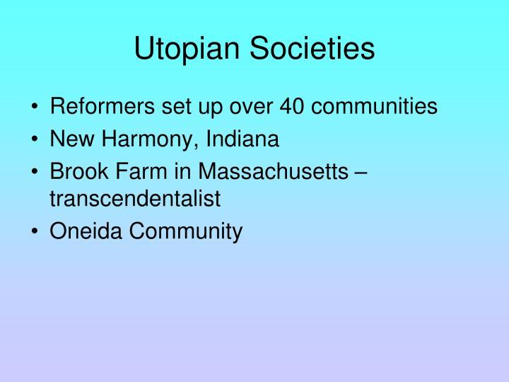 Utopian Societies