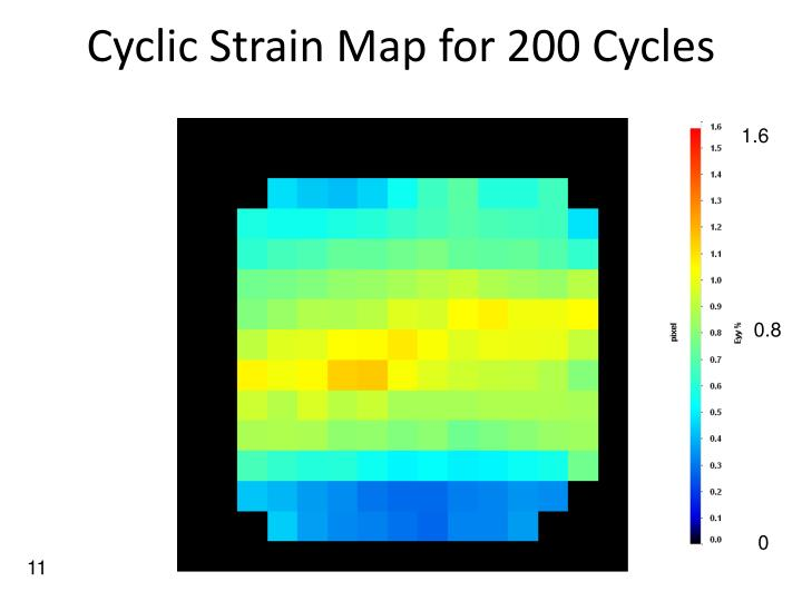 Cyclic Strain Map for 200 Cycles