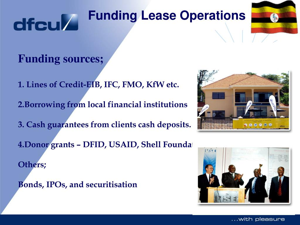 Funding sources;