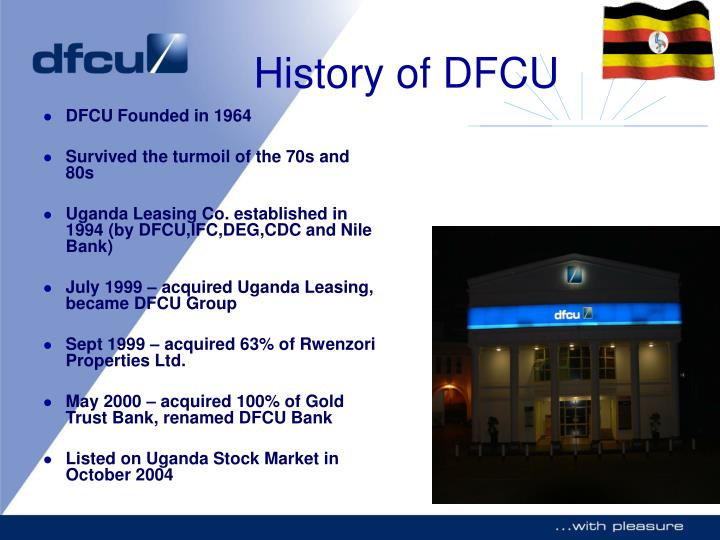 History of dfcu