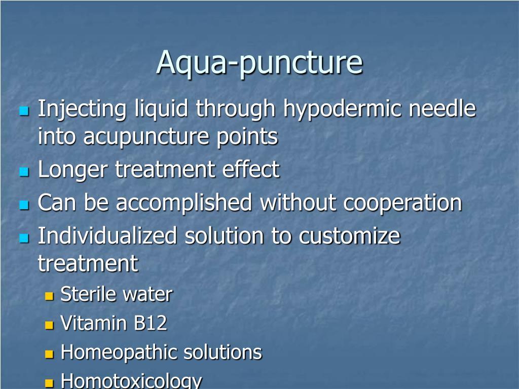 Aqua-puncture