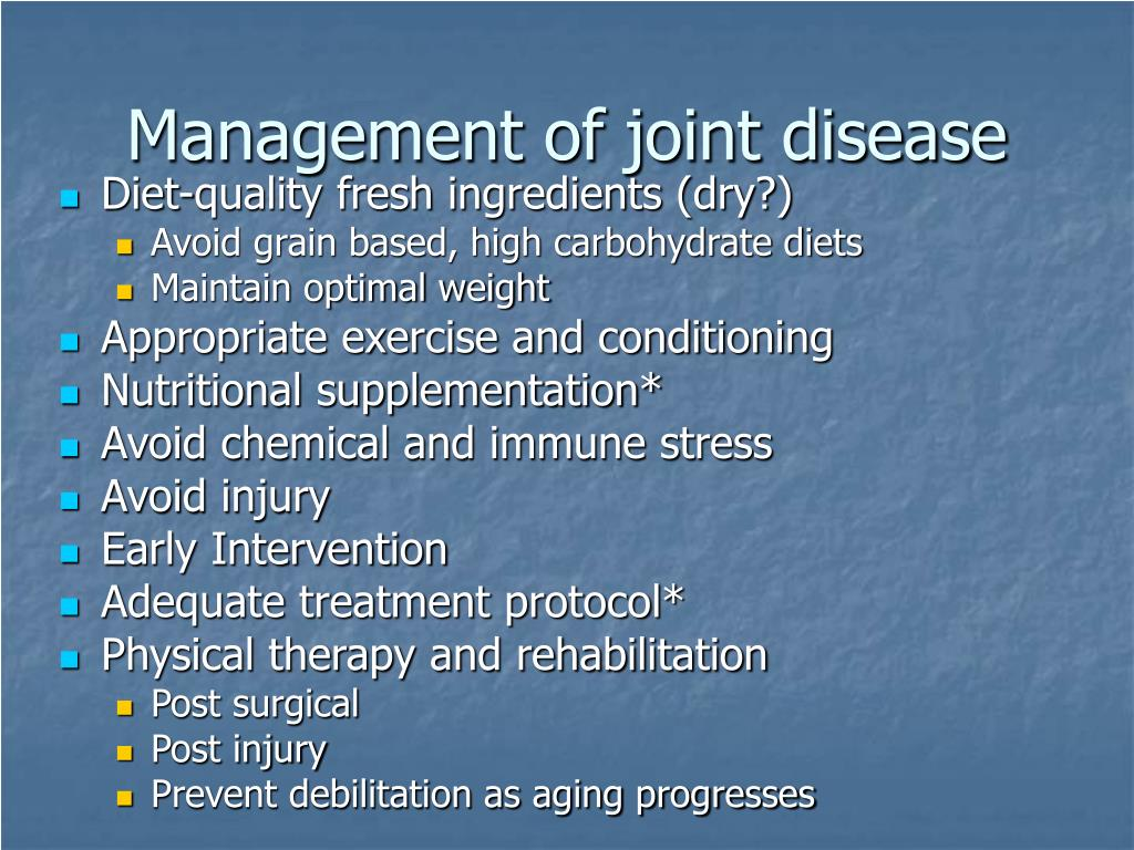 Management of joint disease
