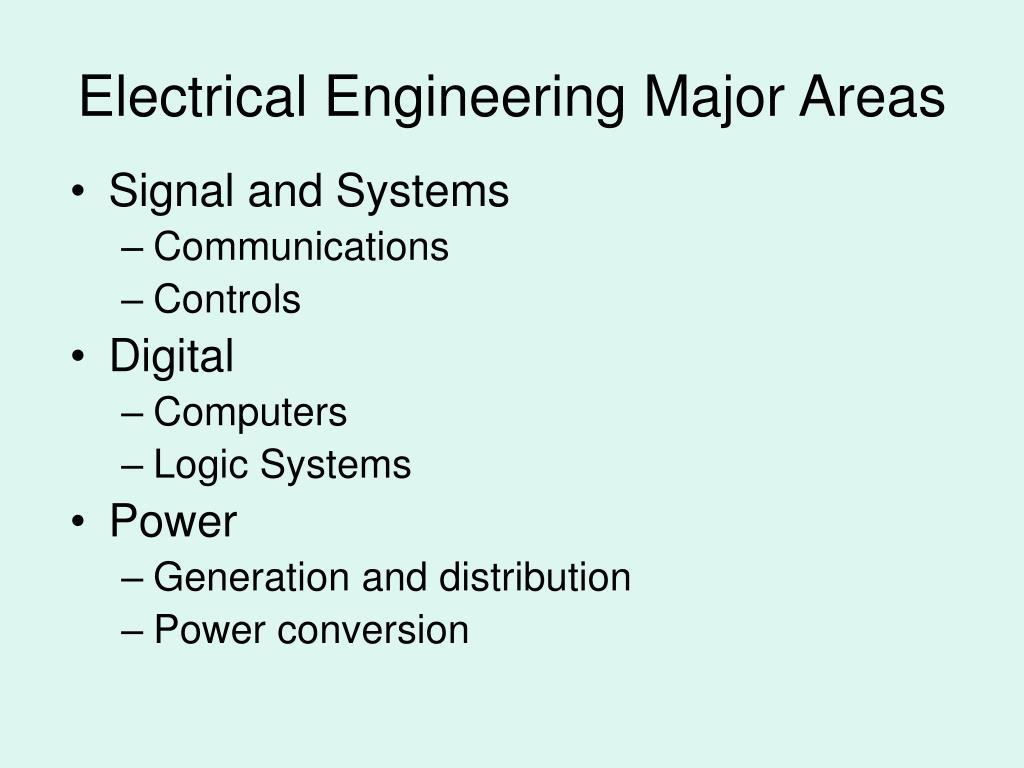 Electrical Engineering Major Areas
