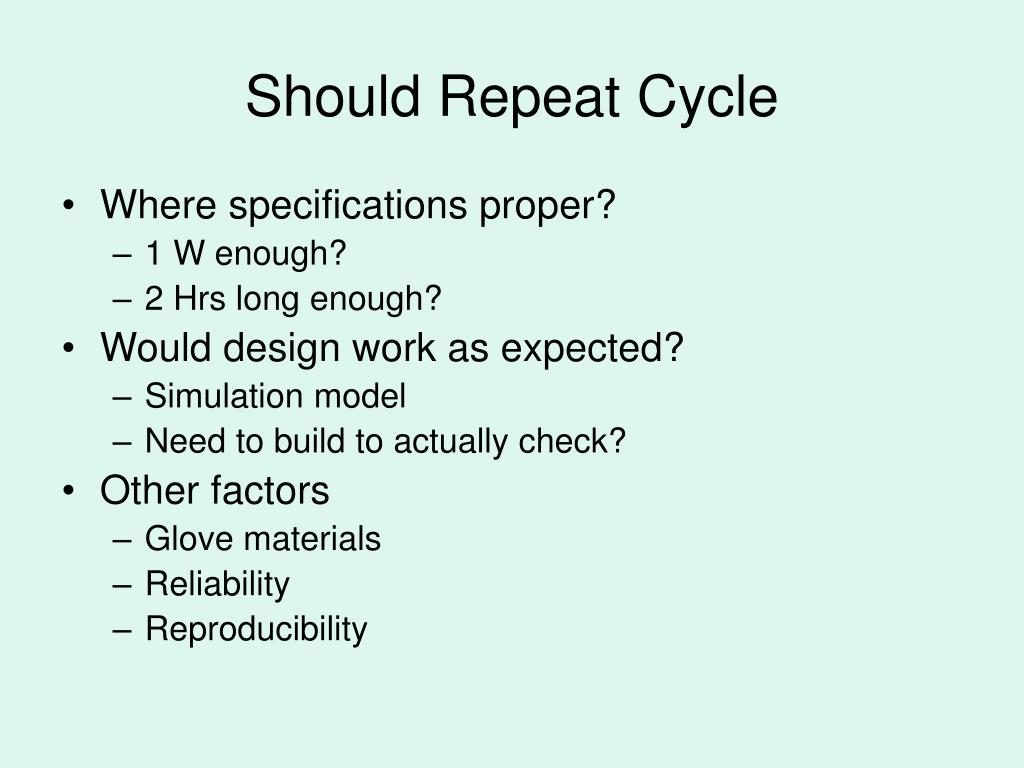 Should Repeat Cycle