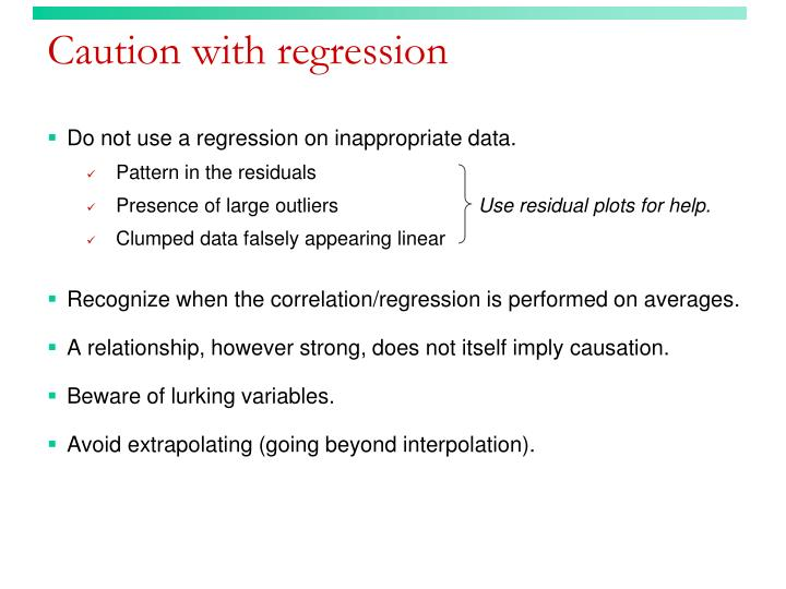 Caution with regression