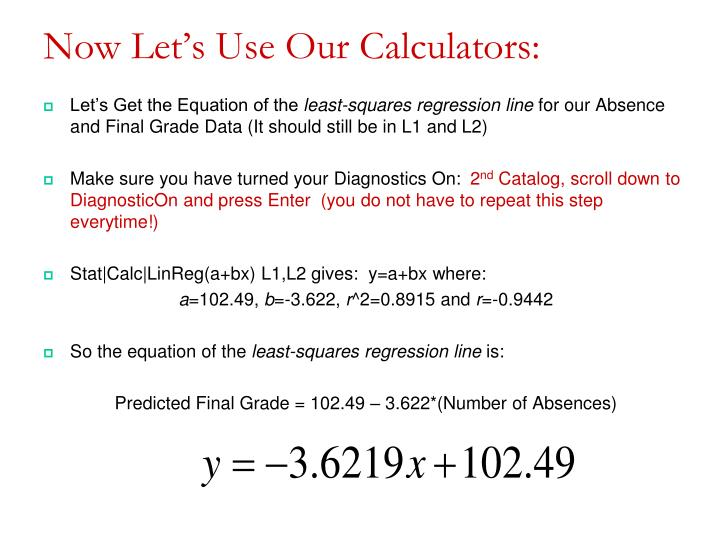 Now Let's Use Our Calculators: