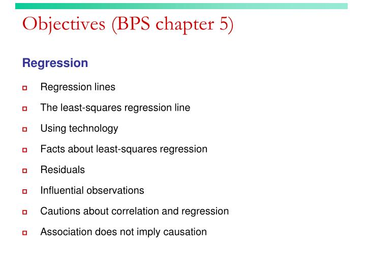 Objectives bps chapter 5