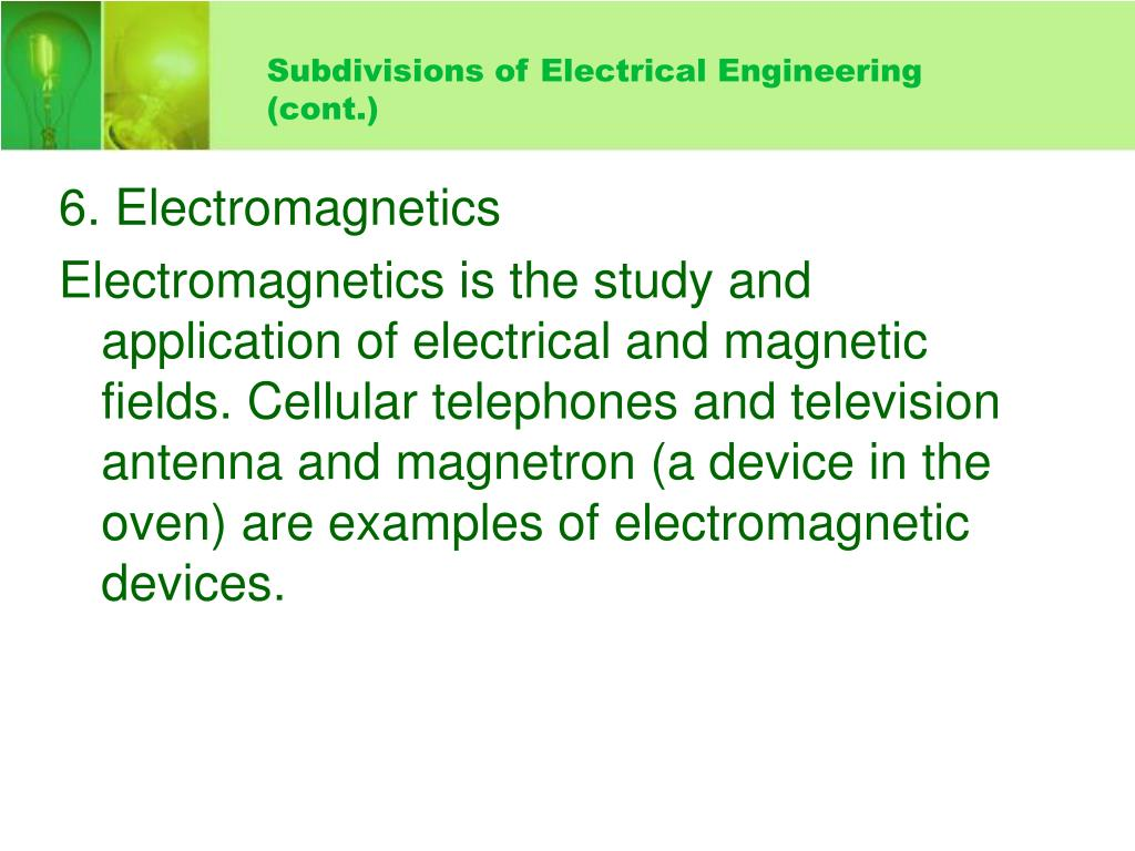 Subdivisions of Electrical Engineering
