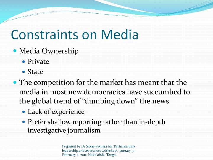 Constraints on Media