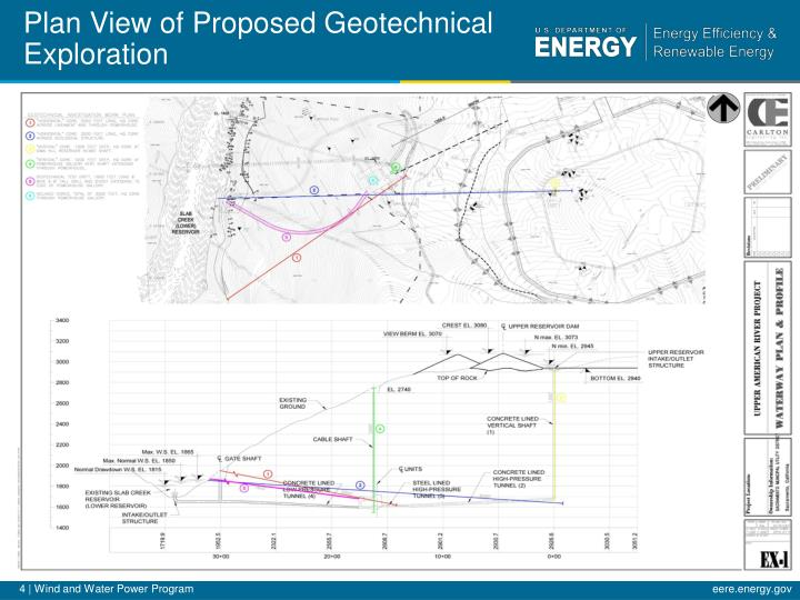 Plan View of Proposed Geotechnical Exploration
