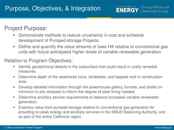 Purpose objectives integration