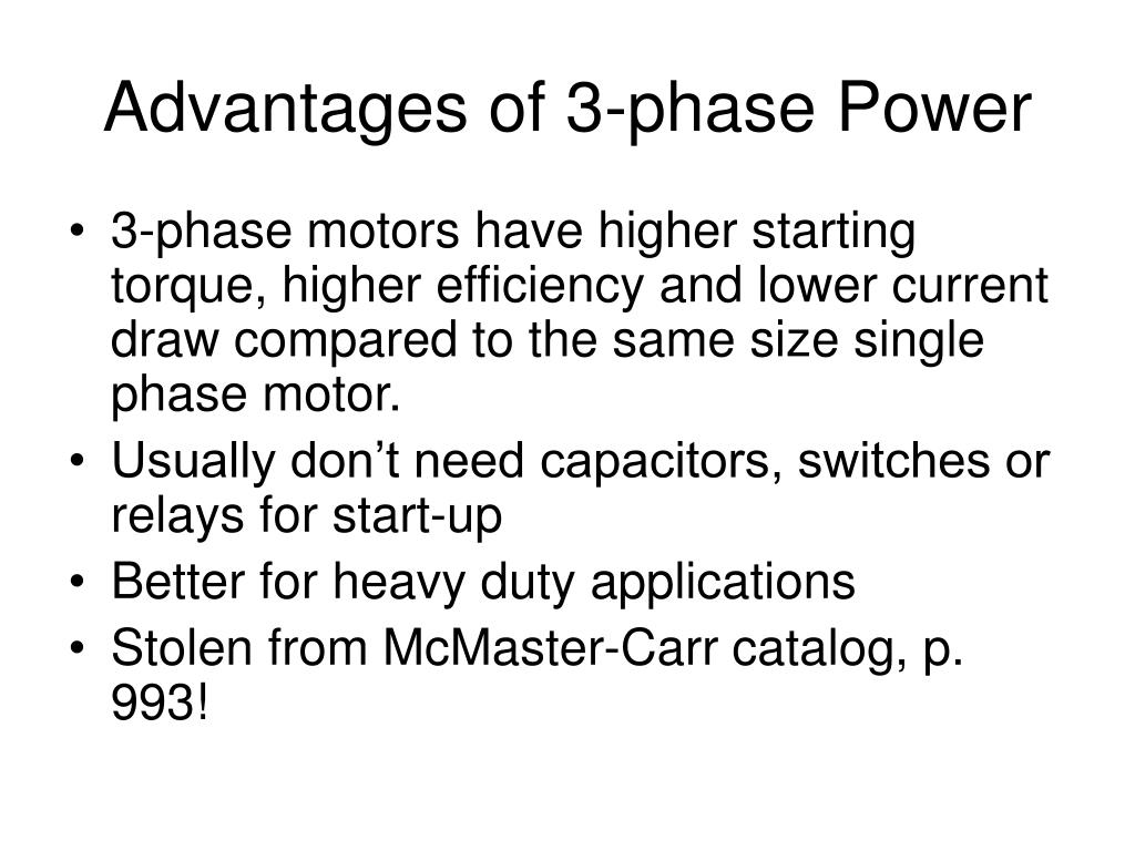 Advantages of 3-phase Power