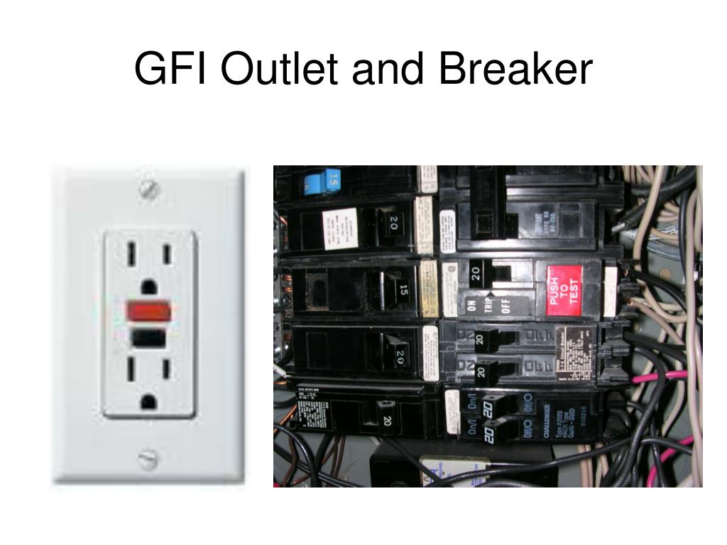 GFI Outlet and Breaker