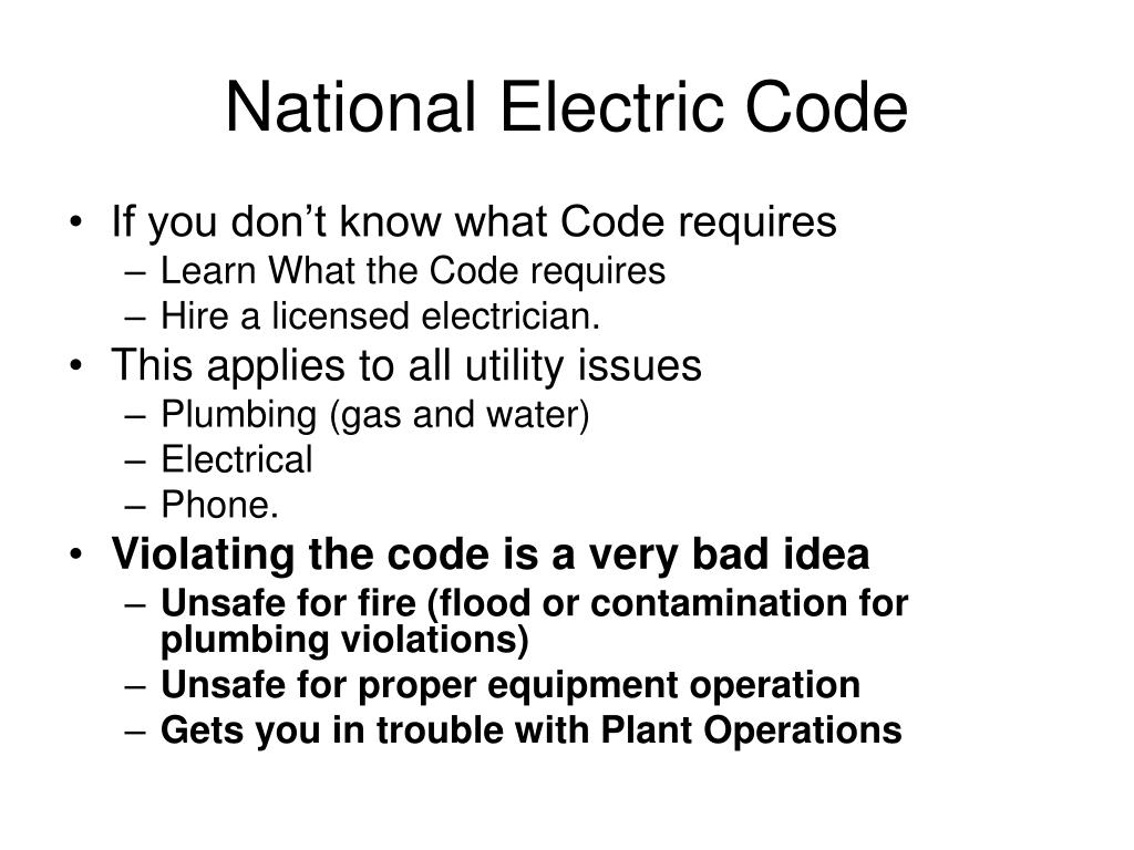 National Electric Code