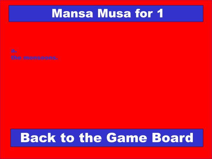 Mansa Musa for