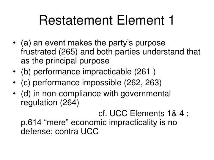 Restatement Element 1