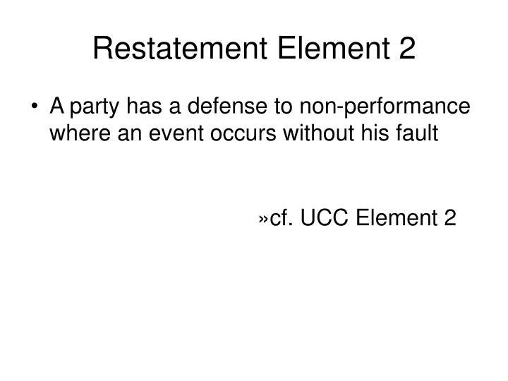 Restatement Element 2