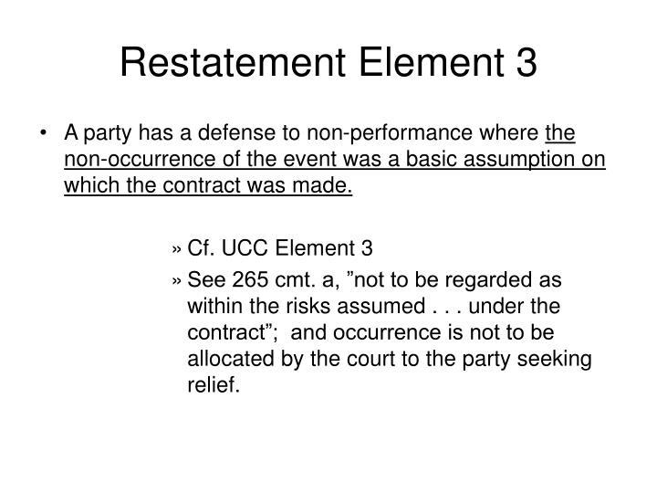 Restatement Element 3