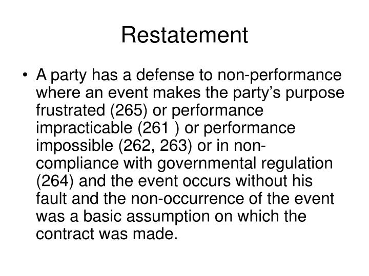 Restatement