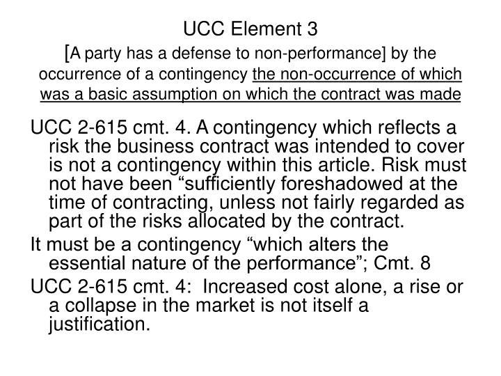UCC Element 3