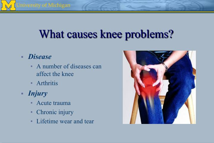 What causes knee problems?