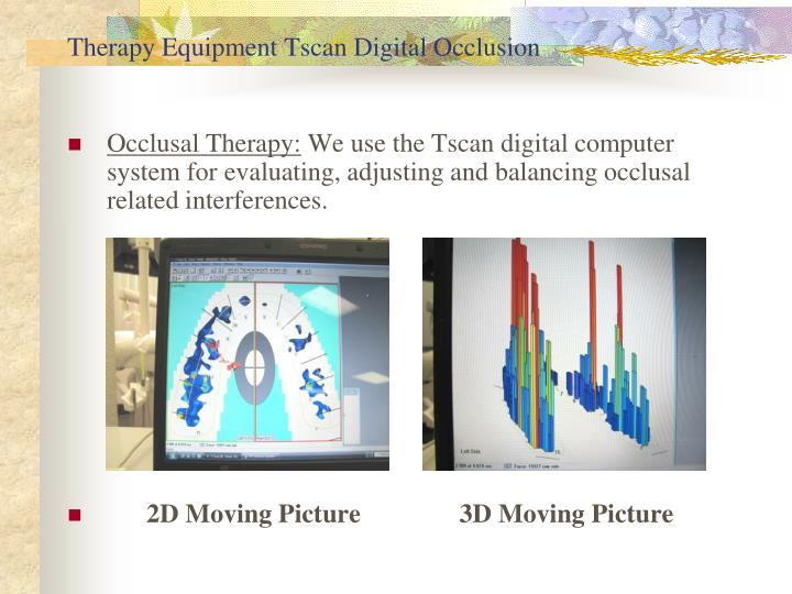 Therapy Equipment Tscan Digital Occlusion