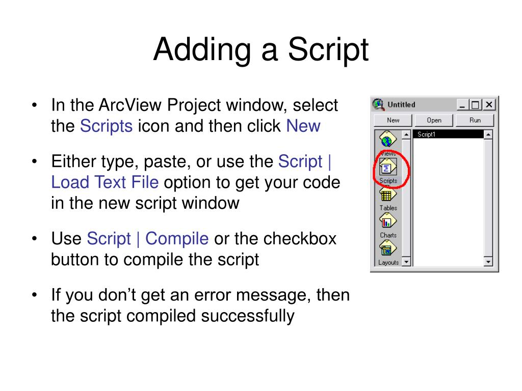 Adding a Script