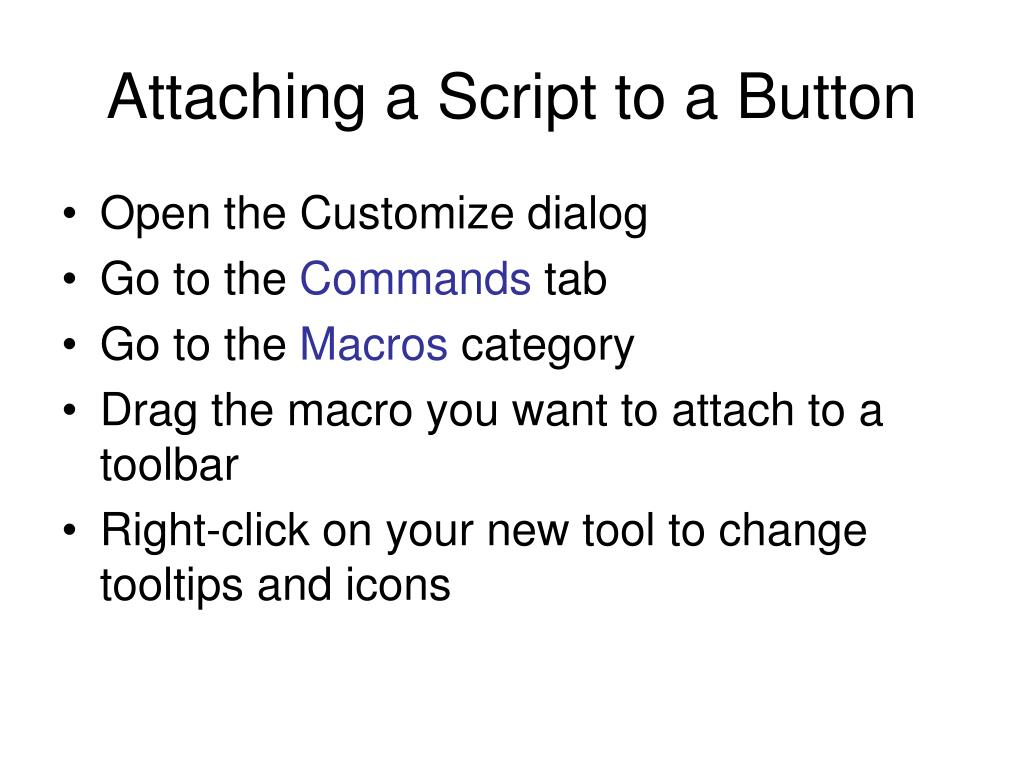 Attaching a Script to a Button
