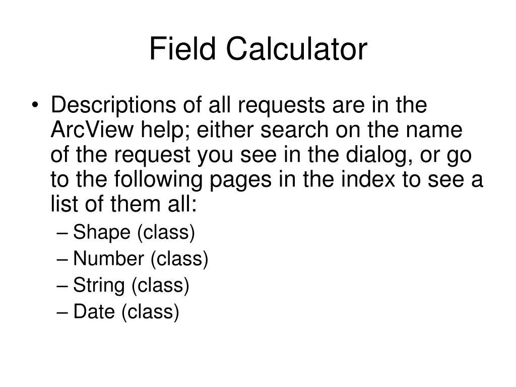 Field Calculator